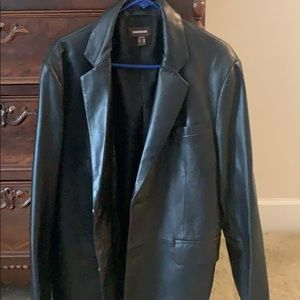 Daniel black leather blazer